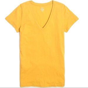 NWT | J Crew | Mustard Yellow 100% Cotton V Neck